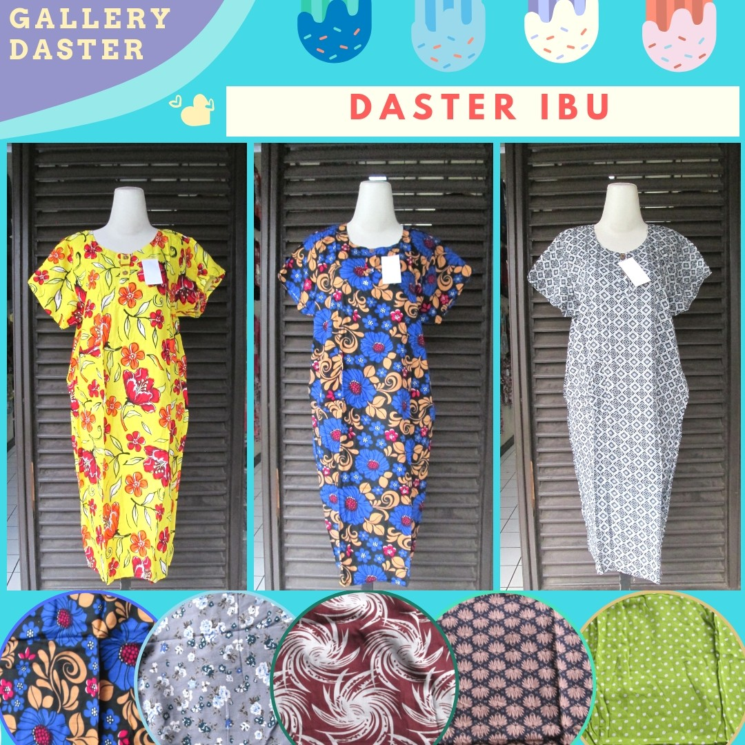 Grosir Daster Batik Katun Murah Bandung Sentra Produsen Daster Ibu Dewasa Busui Murah di Bandung Rp.24.500