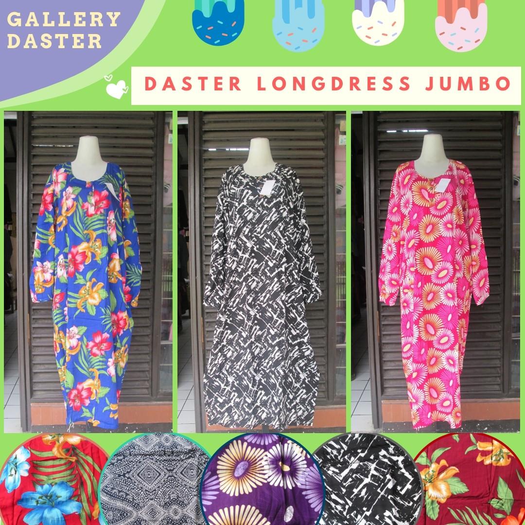 Grosir Daster Katun Bandung Distributor Daster Longdress Jumbo Dewasa Murah di Bandung Rp.37.500