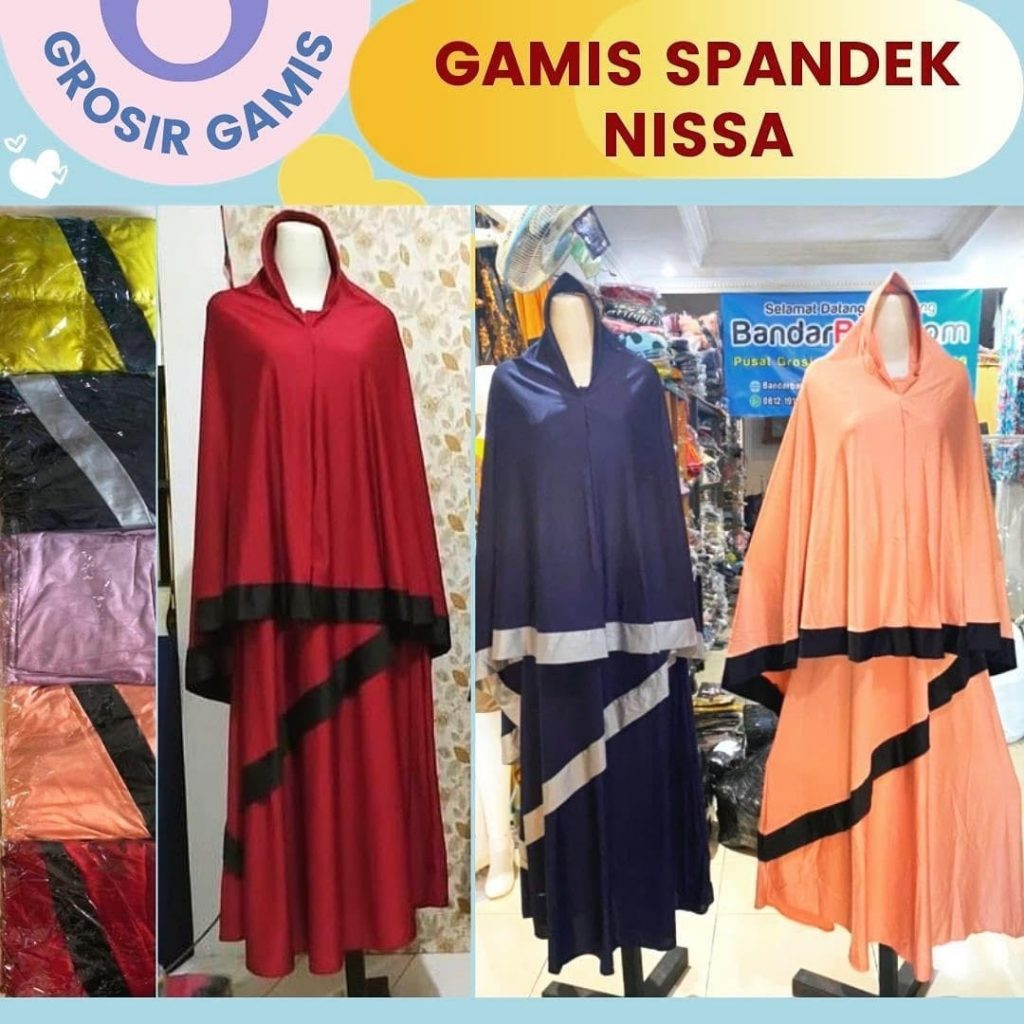 Grosir Daster Batik Katun Murah Bandung Grosir Gamis Spandek Nissa Rp. 88.000