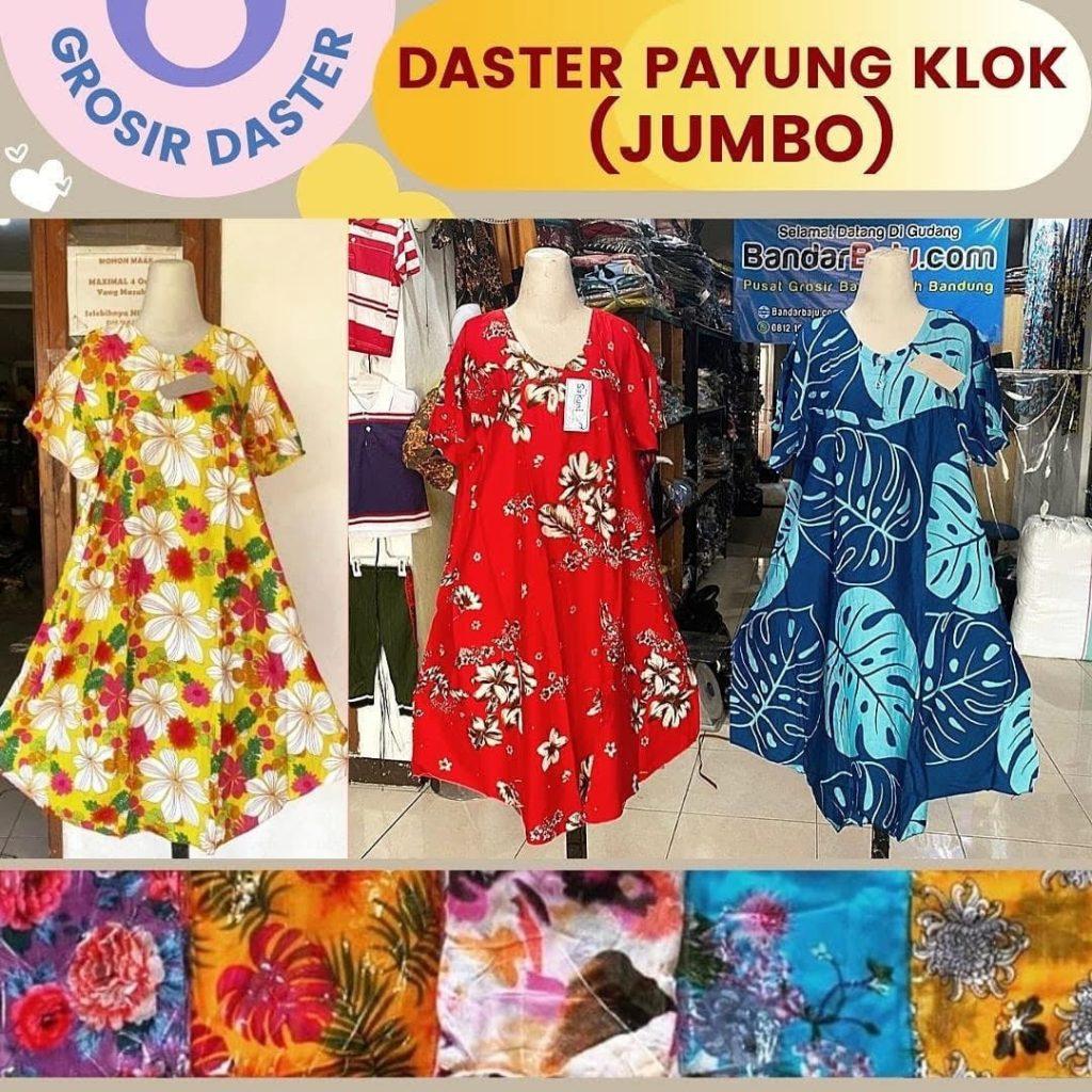 Grosir Daster Batik Katun Murah Bandung Distributor Daster Payung Klok (Jumbo) Rp. 36.500